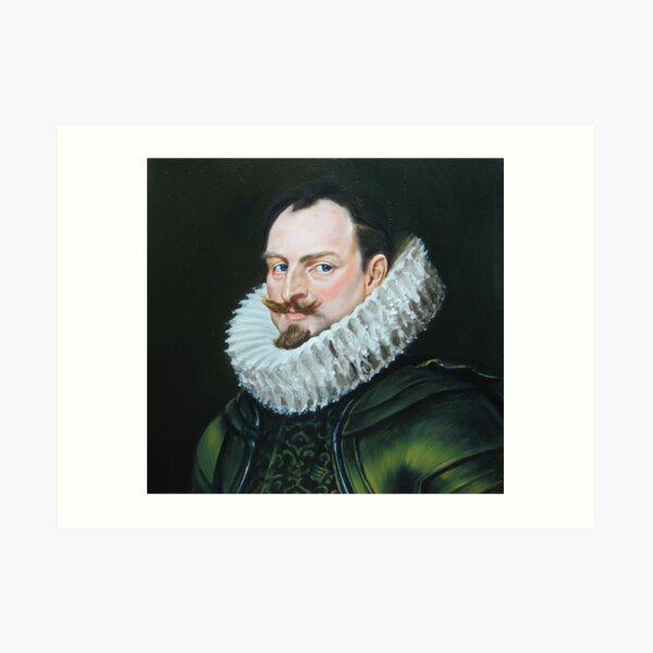 renaissance nobleman after vandyck Art Print
