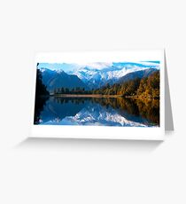 Lake Matheson, New Zealand Greeting Card