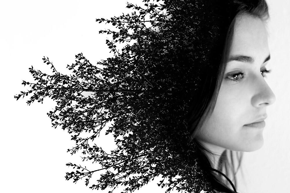 Double Exposure Portrait by T M B