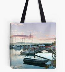 Beautiful sunset over Denarau Marina Tote Bag