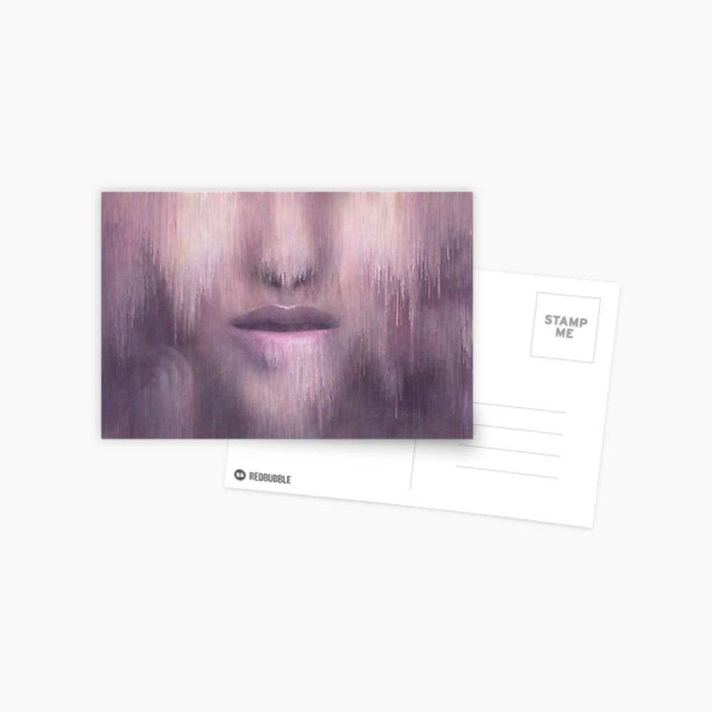 """Succumb"" (tears, sadness, giving up) painting - ""Smile"" Fine Art series Postcard"