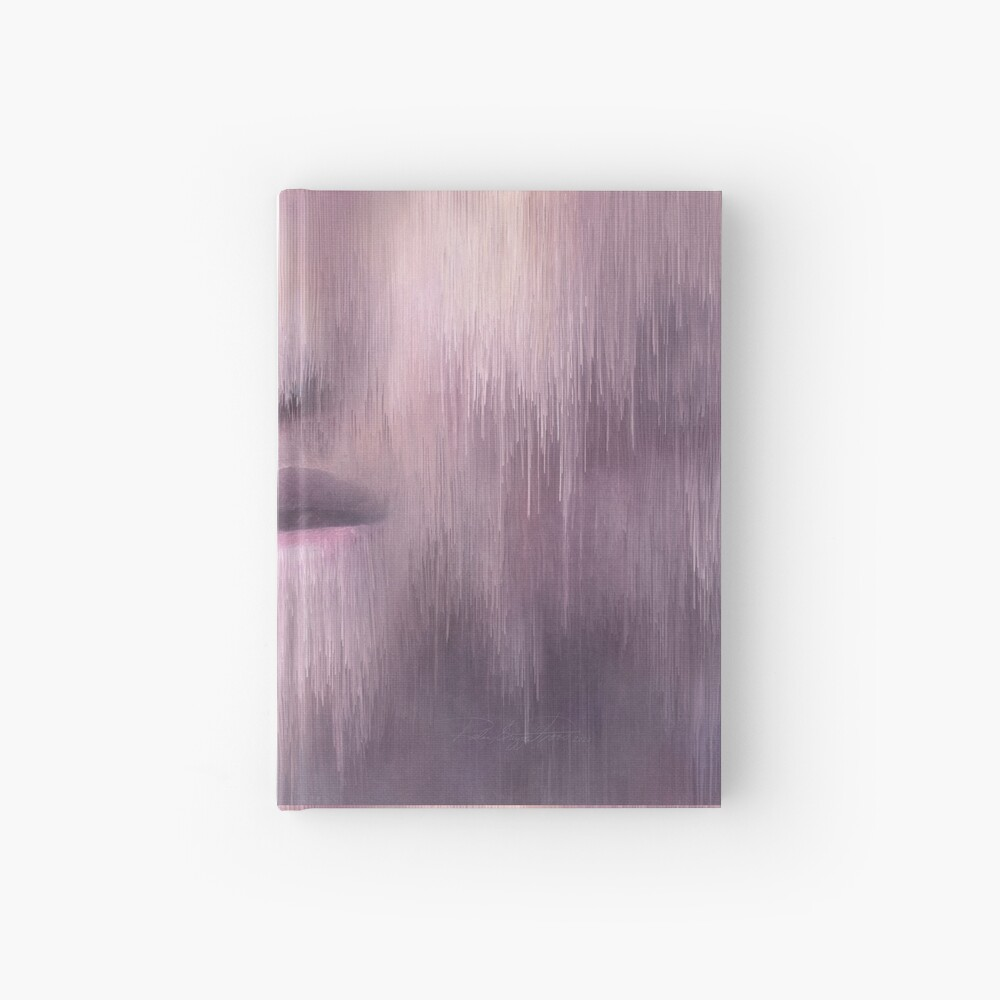 """""""Succumb"""" (tears, sadness, giving up) painting - """"Smile"""" Fine Art series Hardcover Journal"""