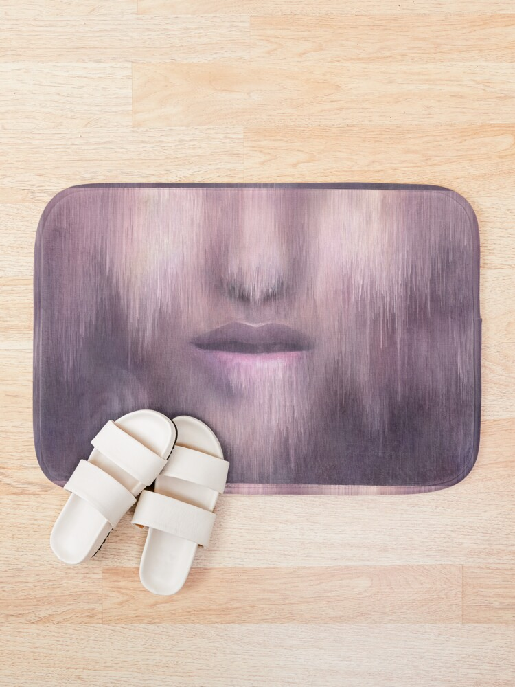 """Alternate view of """"Succumb"""" (tears, sadness, giving up) painting - """"Smile"""" Fine Art series Bath Mat"""