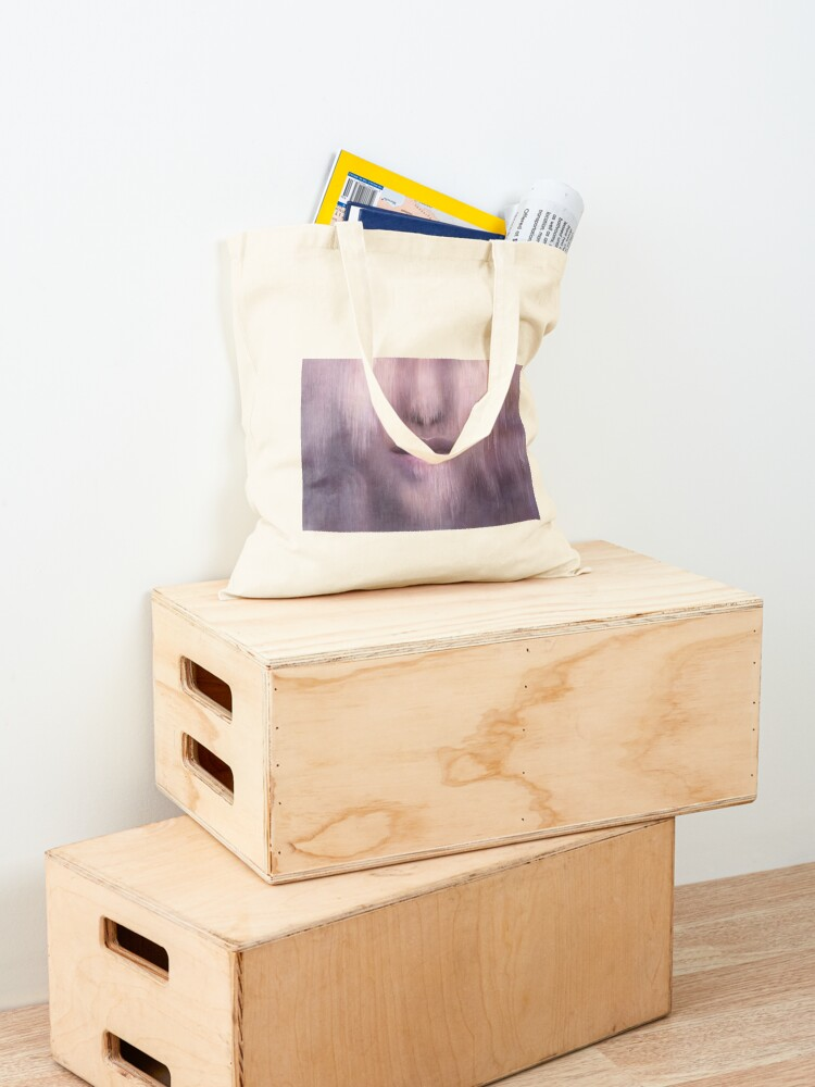 """Alternate view of """"Succumb"""" (tears, sadness, giving up) painting - """"Smile"""" Fine Art series Tote Bag"""