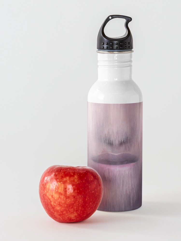 "Alternate view of ""Succumb"" (tears, sadness, giving up) painting - ""Smile"" Fine Art series Water Bottle"