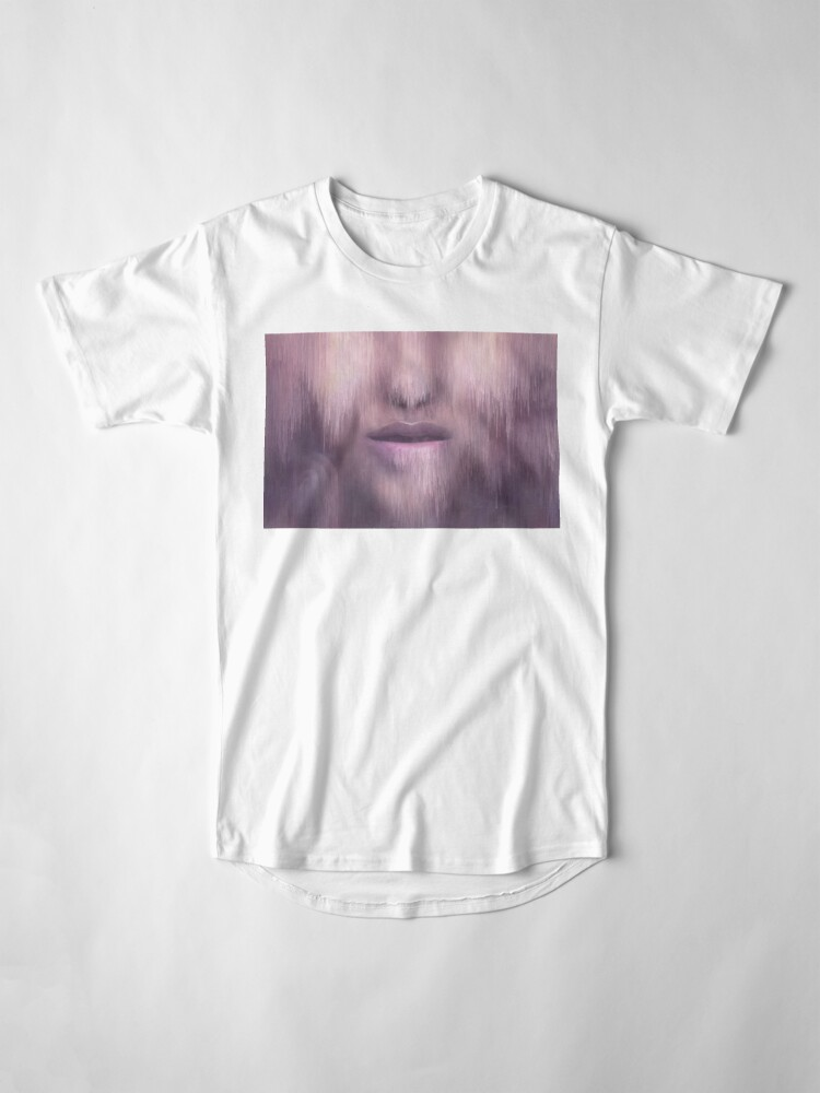 """Alternate view of """"Succumb"""" (tears, sadness, giving up) painting - """"Smile"""" Fine Art series Long T-Shirt"""