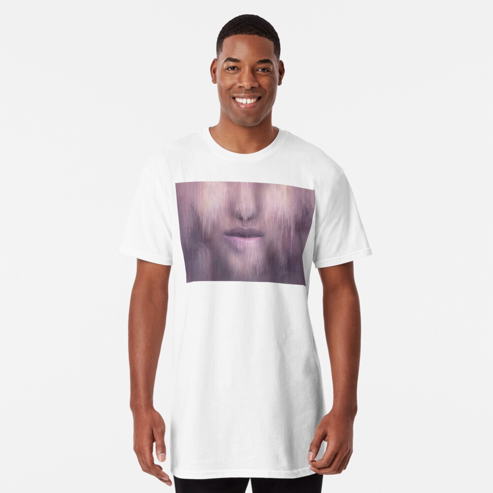 """""""Succumb"""" (tears, sadness, giving up) painting - """"Smile"""" Fine Art series Long T-Shirt"""