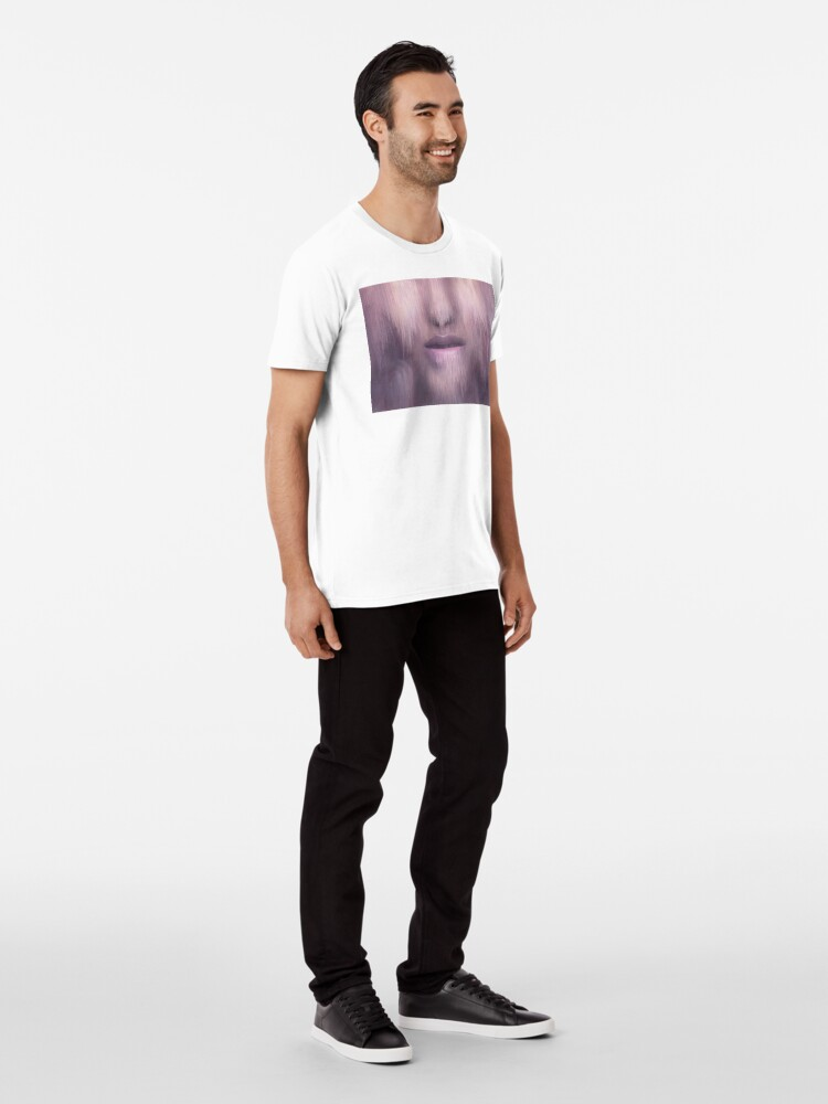 """Alternate view of """"Succumb"""" (tears, sadness, giving up) painting - """"Smile"""" Fine Art series Premium T-Shirt"""