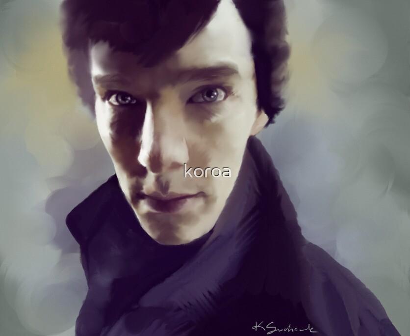 Sherlock Holmes portrait by koroa