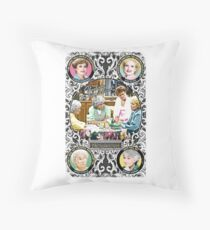 Golden Girls. Blanche, Rose, Dorothy and Sophia. Throw Pillow