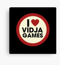 I love video games Canvas Print