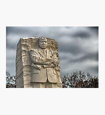 MLK Memorial after snowstorm Photographic Print