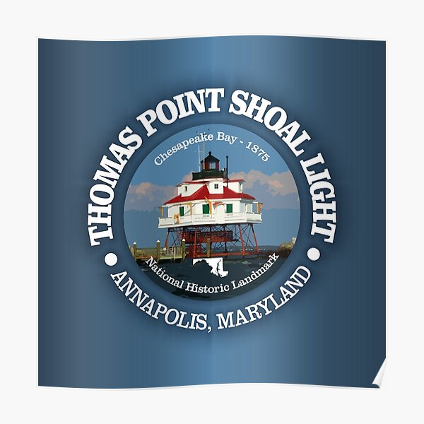 Thomas Point Shoal light Poster