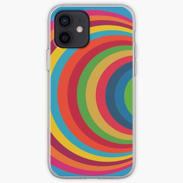 Diseño de círculo colorido - dos Funda blanda para iPhone