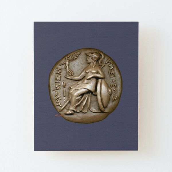 Athena Pallas Athene 2: Greek Drachma Wood Mounted Print