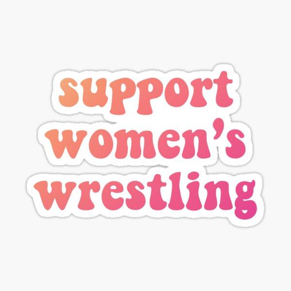 support women's wrestling Sticker