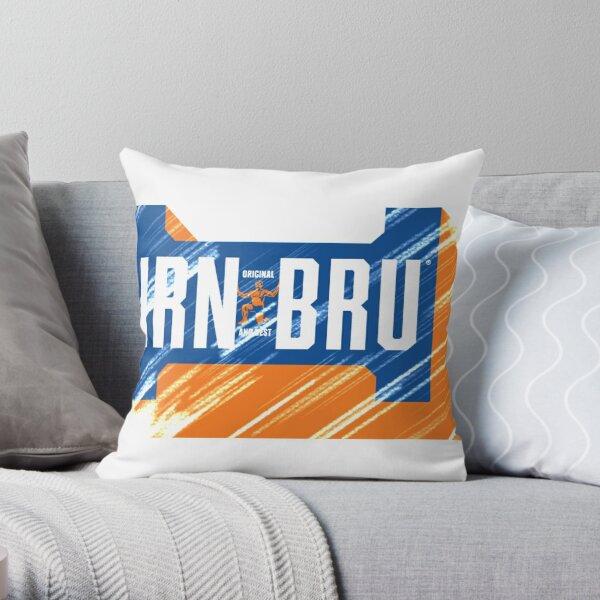 Scratched Irn-Bru Throw Pillow