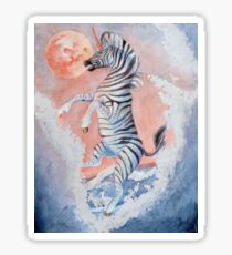 Zebra Unicorn Fantasy Illustration Sticker