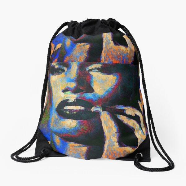 Grace Jones Drawstring Bag