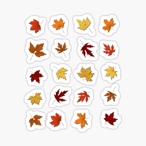 Maple Leaves - Warm Autumn/Fall Colours Sticker