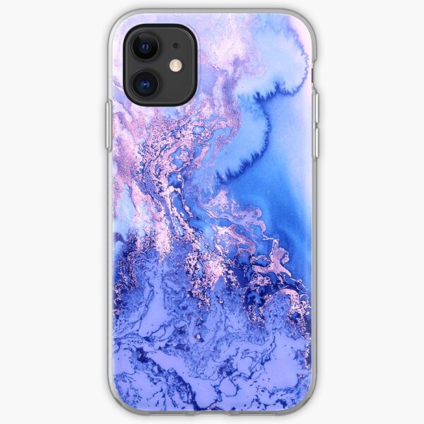 marble watercolour iPhone Soft Case