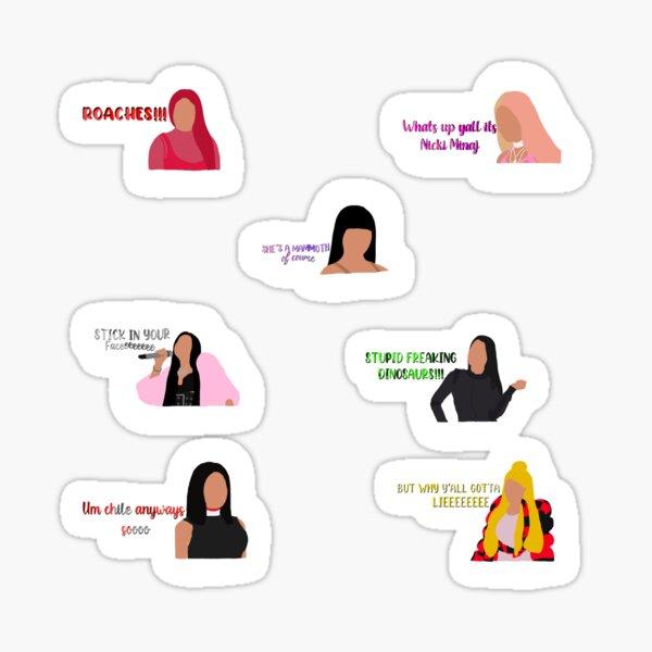 Paquete de pegatinas de cita de Nicki Minaj Pegatina