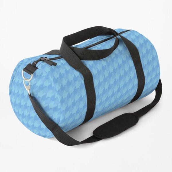 Dark Sky Blue Houndstooth Duffle Bag