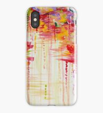 STORMY MOODS Bold Crimson Red colorful Rainbow Rain Clouds Nature Weather Fine Art Painting iPhone Case/Skin