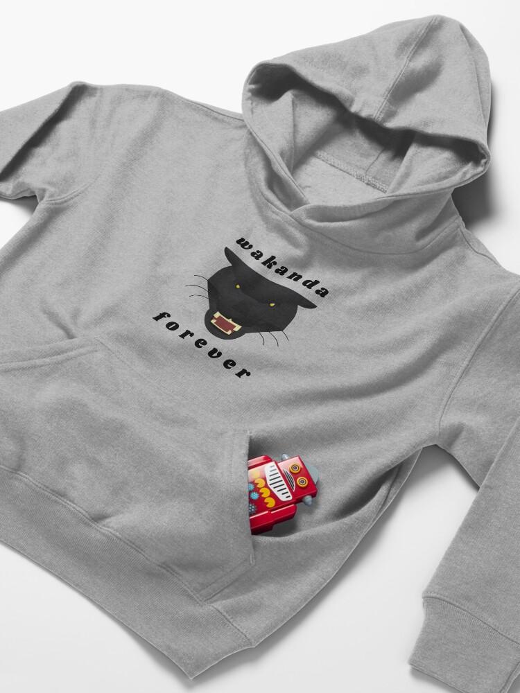 Alternate view of Wakanda forever t-shirt stickers decals Black panther t-shirt stickers decals Kids Pullover Hoodie