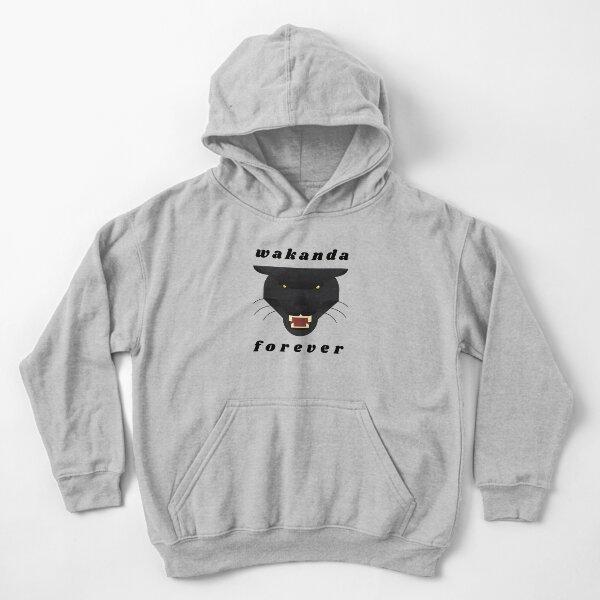 Wakanda forever t-shirt stickers decals Black panther t-shirt stickers decals Kids Pullover Hoodie