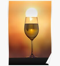 A sunset in my wine... Poster