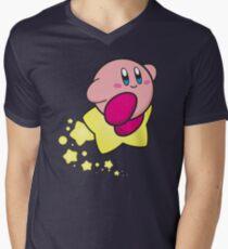 Ride on Kirby Men's V-Neck T-Shirt