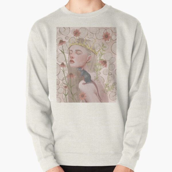 Year of the rat. Chinese zodiac illustration. Pullover Sweatshirt