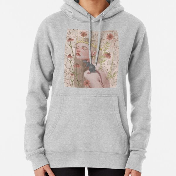 Year of the rat. Chinese zodiac illustration. Pullover Hoodie