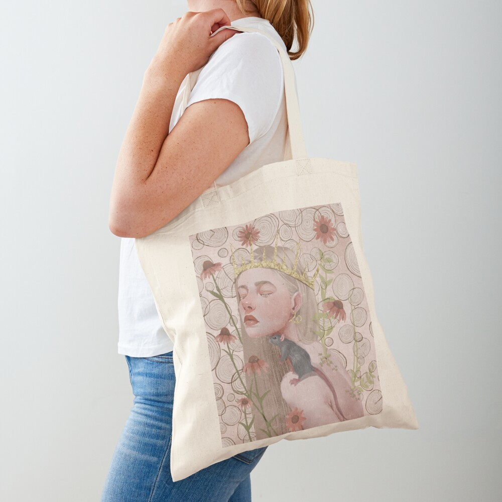 Year of the rat. Chinese zodiac illustration. Tote Bag