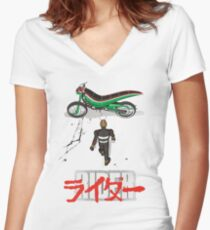 RIDE Women's Fitted V-Neck T-Shirt
