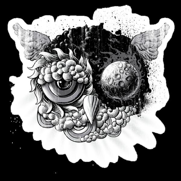 Owl Day & Owl Night by qetza