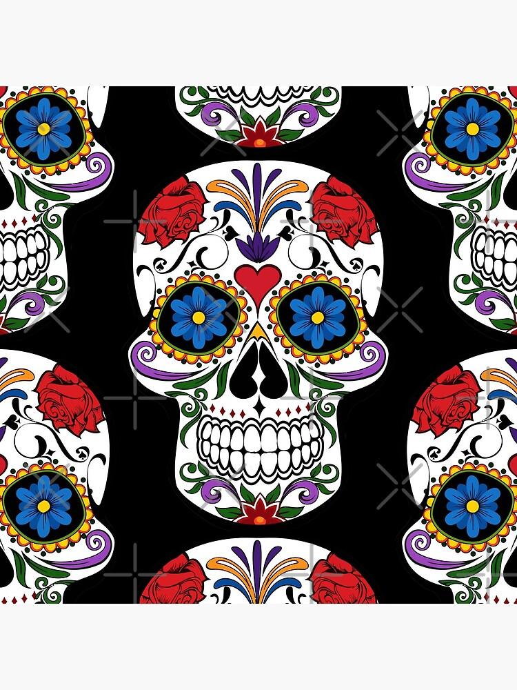 Sugar Skull   Day of the Dead Floral Skull by Gascondi