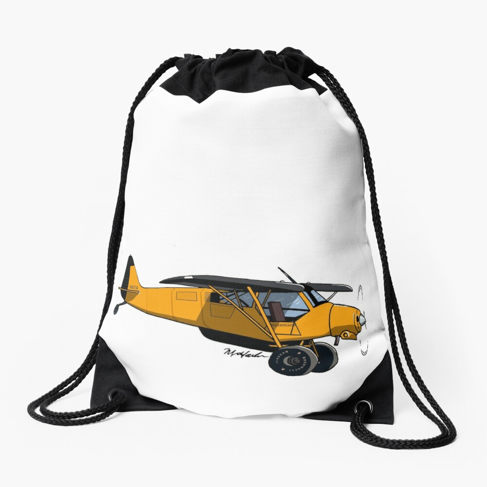Yellow Experimental Super Cub Drawstring Bag