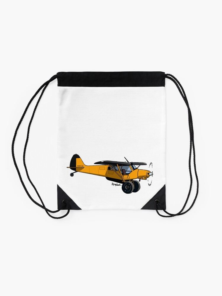 Alternate view of Yellow Experimental Super Cub Drawstring Bag