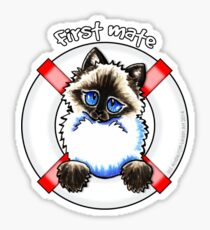 Ragdoll/Ragamuffin : First Mate Sticker