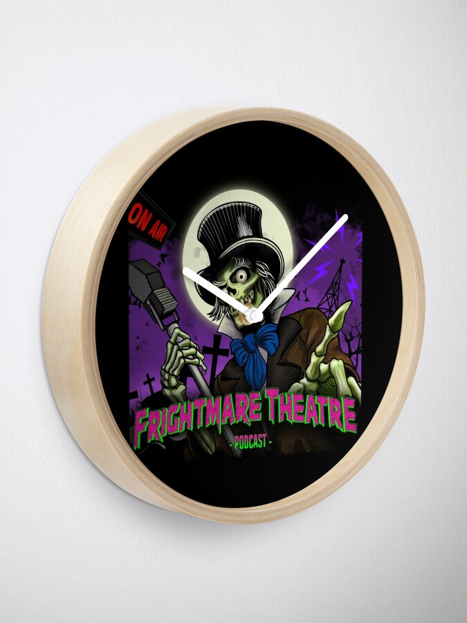 Alternate view of FRIGHTMARE THEATRE PODCAST MAIN Clock