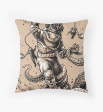 Danger Dive Throw Pillow