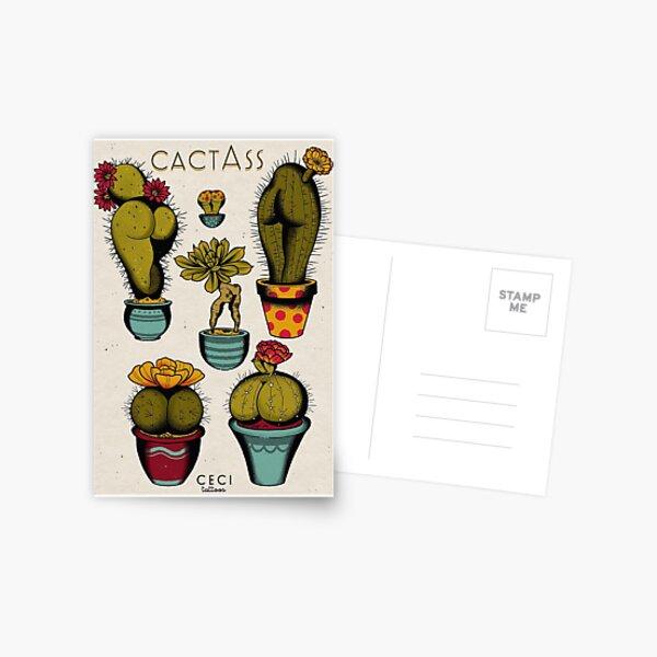 CactAss tattoo flash Postcard