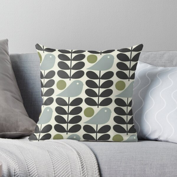 Orla kiely design Throw Pillow