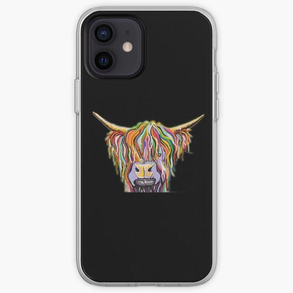 Highland Cow McCoo mcoo mujer negro Funda blanda para iPhone