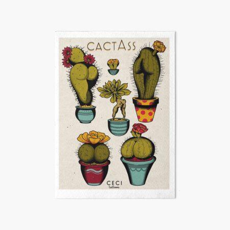 CactAss tattoo flash Art Board Print