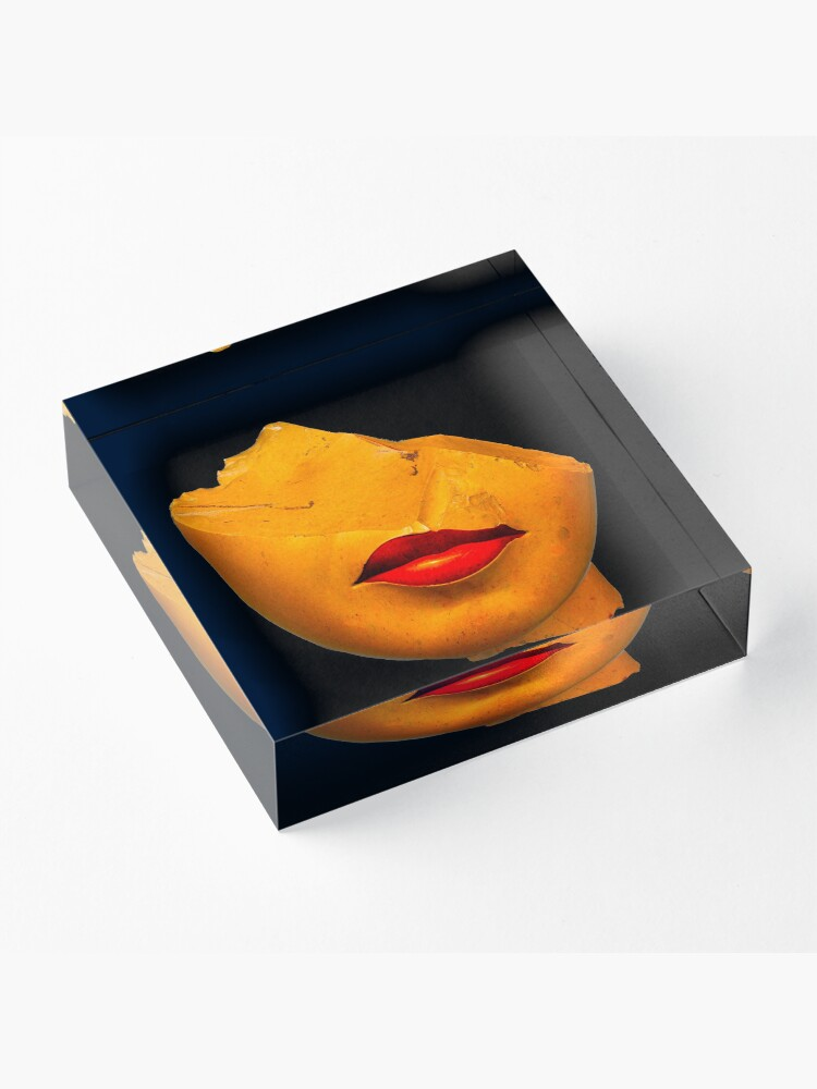 Alternate view of a queen lips Acrylic Block