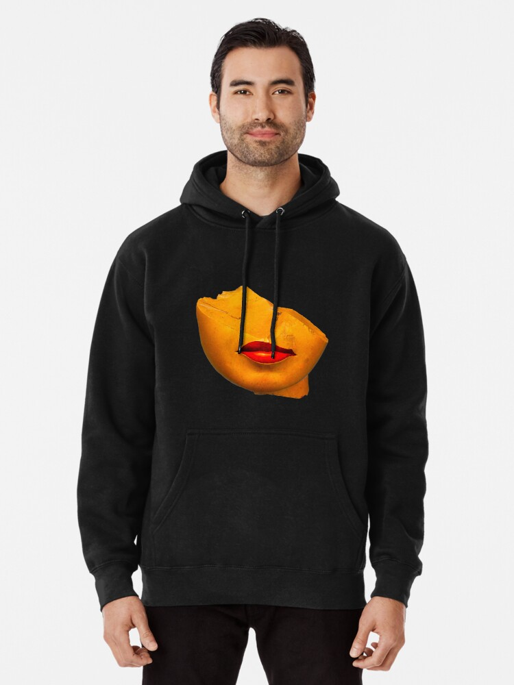 Alternate view of a queen lips Pullover Hoodie