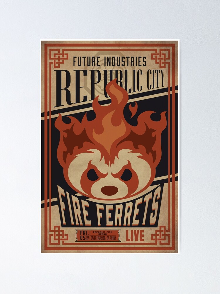Alternate view of Fire Ferrets Vintage Boxing  Poster